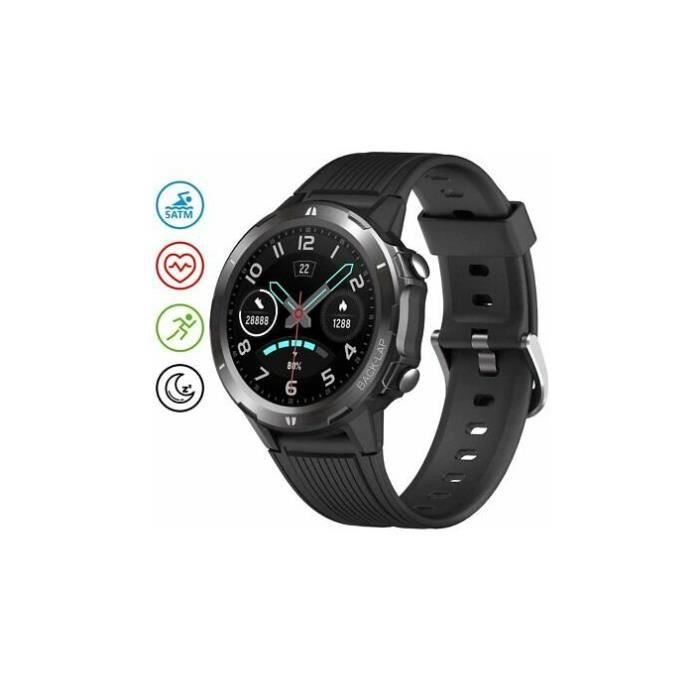 UMIDIGI Uwatch GT 5ATM Montre de sport Matte Black noir Waterproof Fitness Tracker With Pedometer Smart Watch montre intelligent
