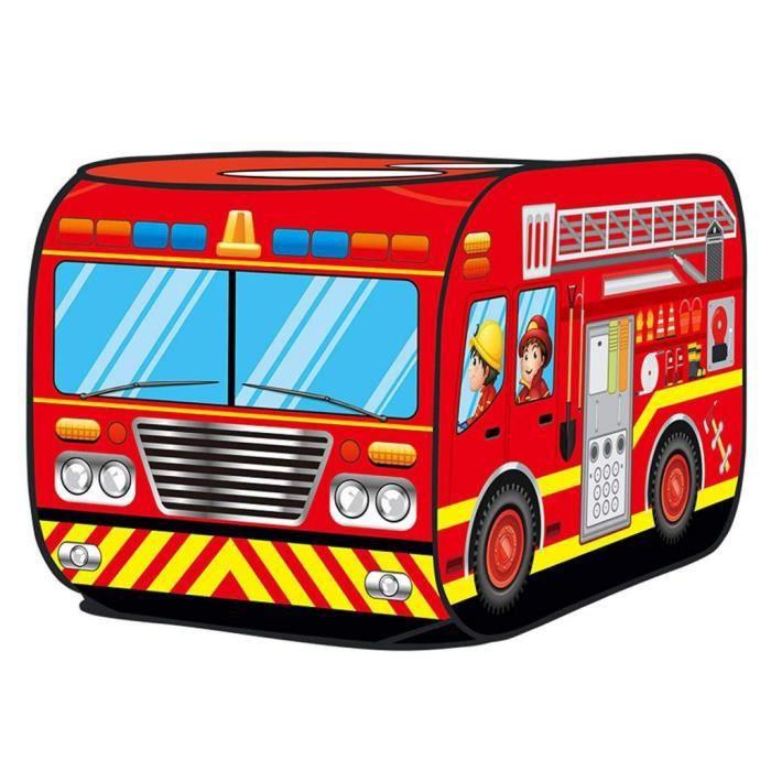 Kids Play Tent Playhouse Pretend Play Pop Up Truck Pelouse Pour Garçons Et Filles Camion de pompier