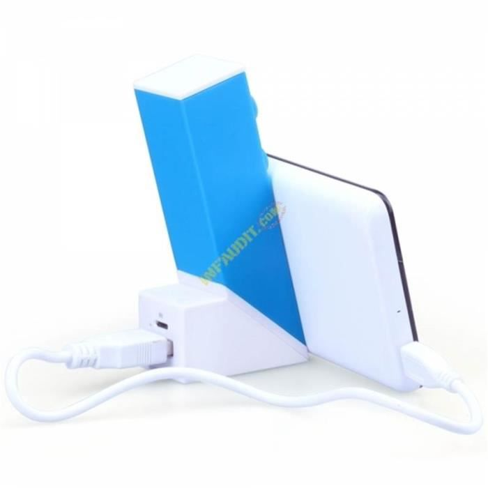 WE Batterie externe 2600mAh 1 port USB 1A - Bleu
