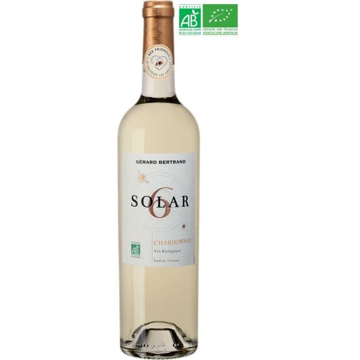Gérard Bertrand Solar6 Chardonnay IGP Cévennes - Vin blanc du Languedoc-Roussillon - Bio