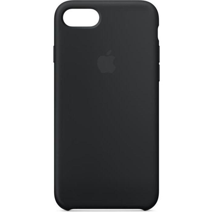 apple coque en silicone pour iphone 8 7 noir