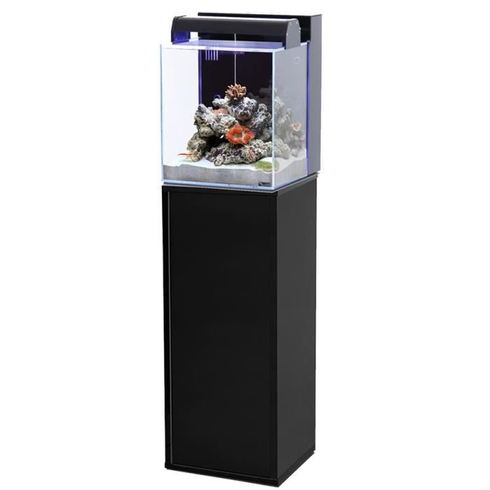 ensemble aquarium nano marin 40 litres noir meuble achat vente sous meuble ensemble. Black Bedroom Furniture Sets. Home Design Ideas