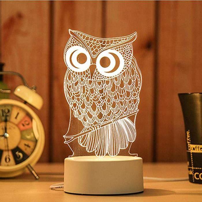 LAMPE A POSER 3D USB acrylique lumière de nuit LED table bureau
