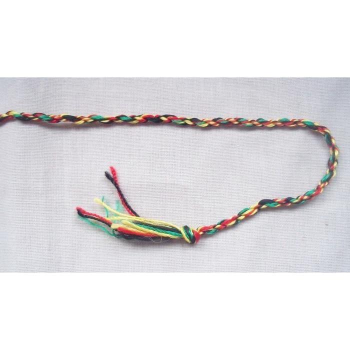 bracelet bresilien rouge jaune vert