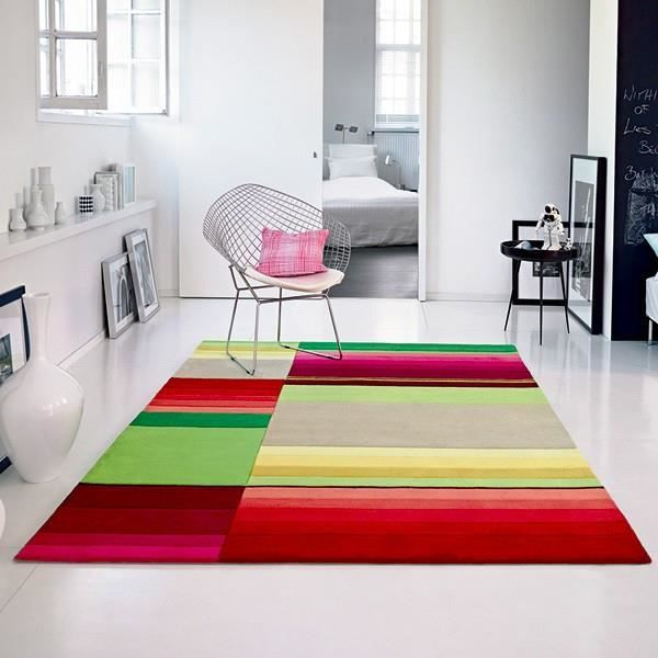 tapis de salon color 200 x 200 cm achat vente tapis soldes cdiscount. Black Bedroom Furniture Sets. Home Design Ideas