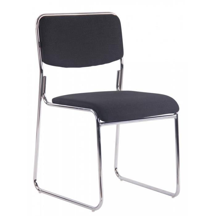 CHAISE DE BUREAU Chaise visiteur bureau sans roulette rembourré en
