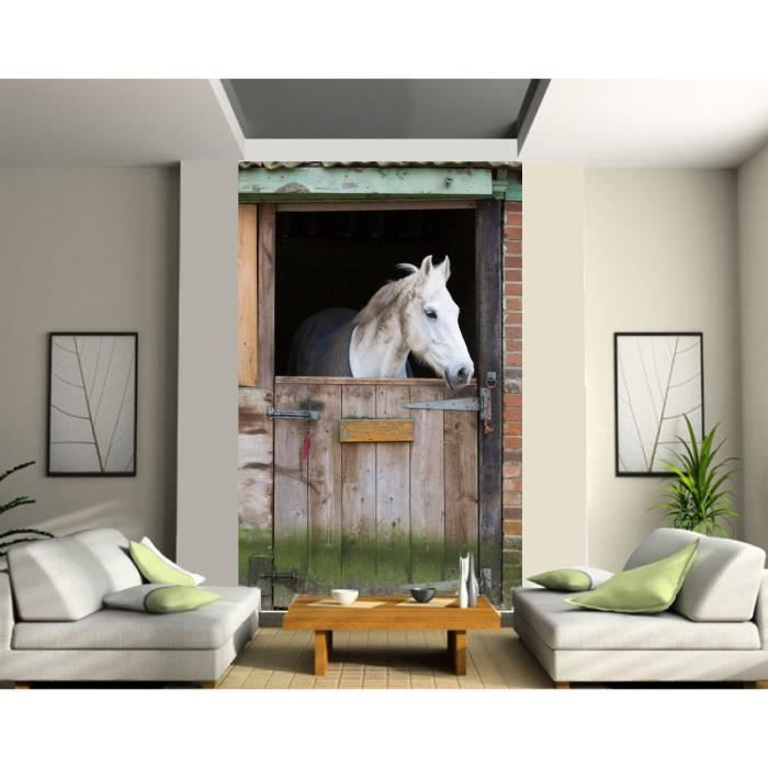 papier peint d co grande largeur cheval curie dimension achat vente papier peint papier. Black Bedroom Furniture Sets. Home Design Ideas