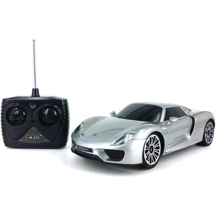 voiture radiocommand e rc 1 18 sport car porsche 918 spyder achat vente. Black Bedroom Furniture Sets. Home Design Ideas