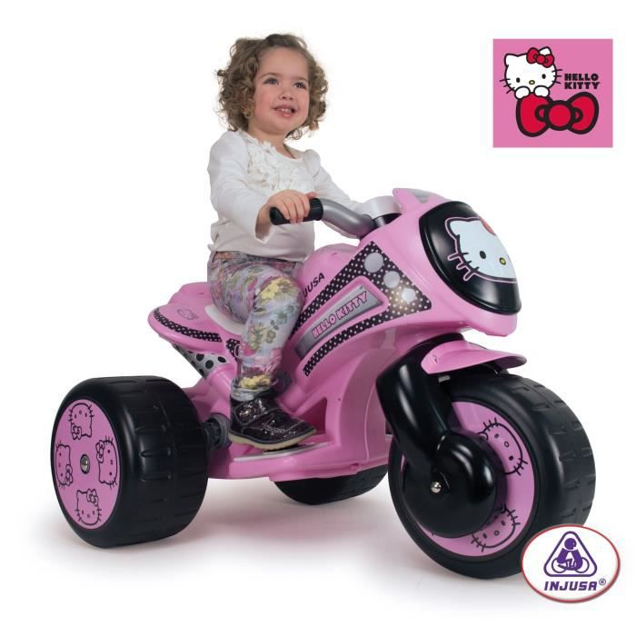 hello kitty trimoto electrique enfant 6 volts achat vente moto scooter cdiscount. Black Bedroom Furniture Sets. Home Design Ideas