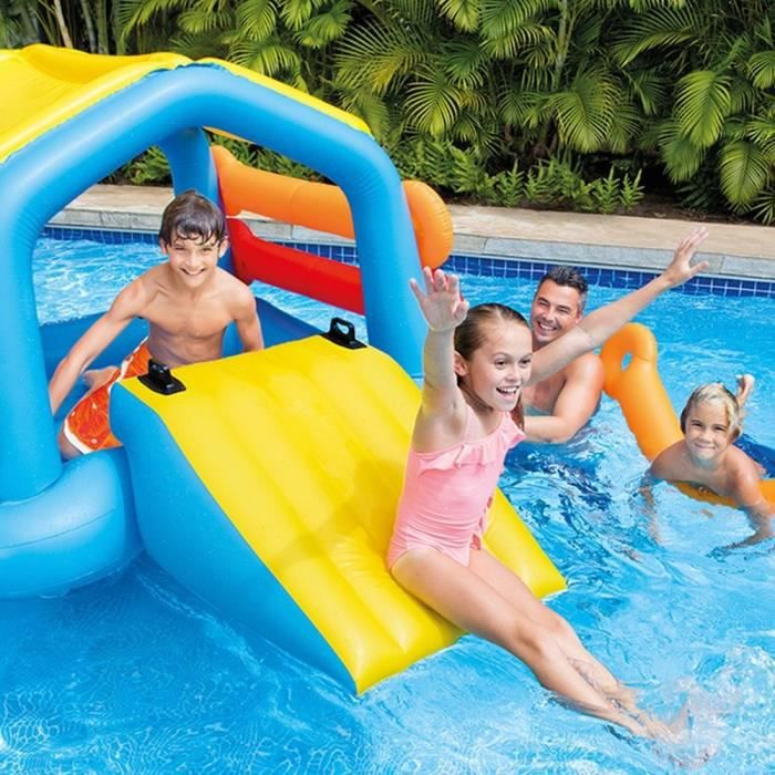 Intex ile gonflable et flottante toboggan jeux de for Toboggan intex piscine