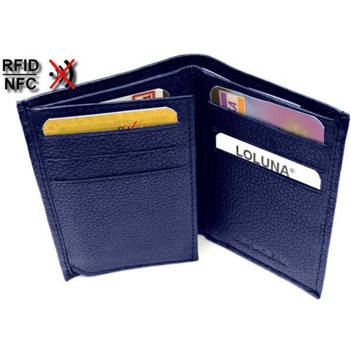 Homme Portefeuille en cuir RFID Bloquant Gents avec 16 Porte-cartes...