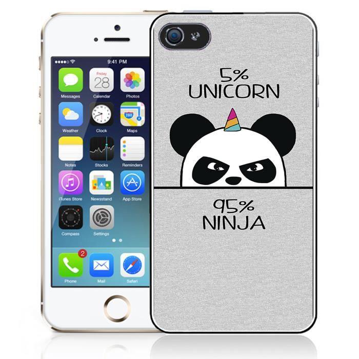 Coque iPhone 5C Unicorn - Licorne Ninja