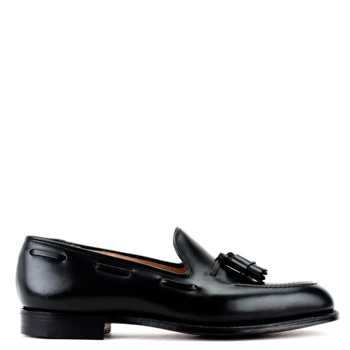 CROCKETT & JONES HOMME 9376101501 NOIR CUIR MOCASSINS bfbPB