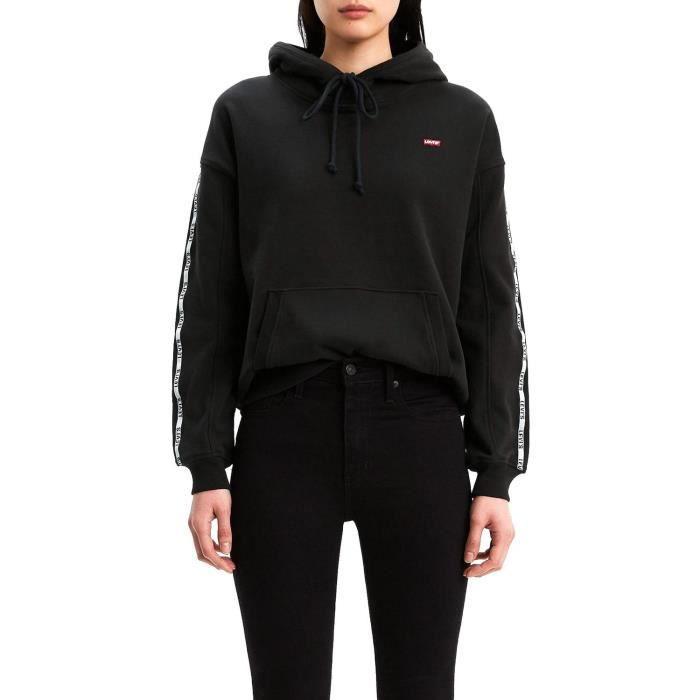 sweatshirt femme noir