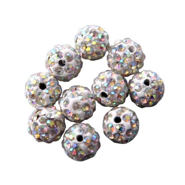 20 Perles Strass en argile Haute Qualité // olive 65 strass par perles 10 mm