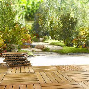 EUGAD 0021DB-2 Dalle pour ext/érieur 30x30cm terrasse balcon Carrelage sol Design 22 pi/èces Anthracite