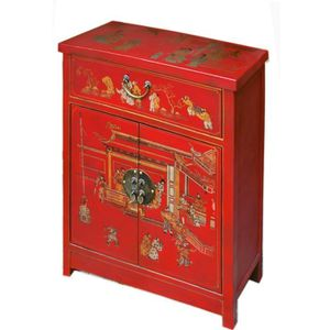 BUFFET - BAHUT  Meuble chinois rouge collection Ming
