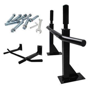 BARRE POUR TRACTION Barre Fixe Noir Gym Fitness Barre de Traction en A