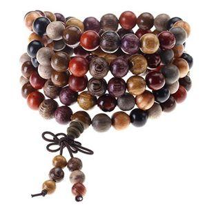 18 mm Perles Unisexe Nouveau Fashion Nice rond naturel Wengé Bois Perles Bracelet