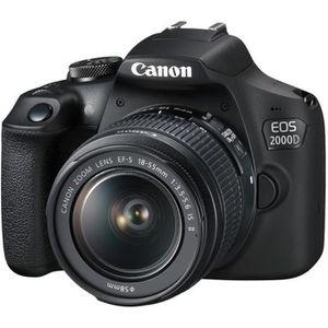 APPAREIL PHOTO RÉFLEX Canon EOS 2000D Appareil photo numérique Reflex 24