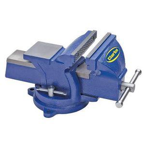 "Clarke métal pivotant bench vice 5 /"" 125mm Bleu cvr125bl"
