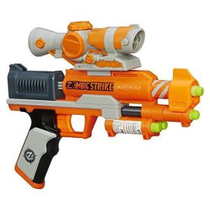 PISTOLET BILLE MOUSSE Hasbro - Nerf - Zombie Strike - Zed Squad - Clear
