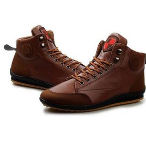 BOTTINE Boots Baskets Fashion Homme Syn Marron fonc