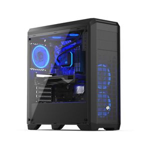 UNITÉ CENTRALE  PC Gaming, AMD Ryzen 3, RX 570, 240Go SSD, 1To HDD