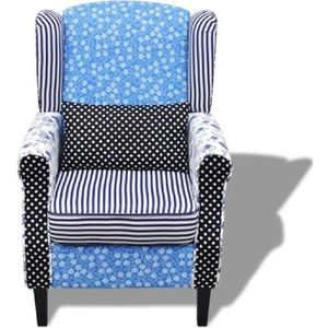 FAUTEUIL Fauteuil patchwork relax de style campagne