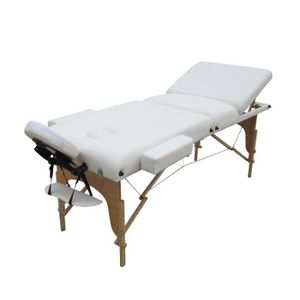 Table de massage Table de massage 13 cm pliante 3 zones en bois ave