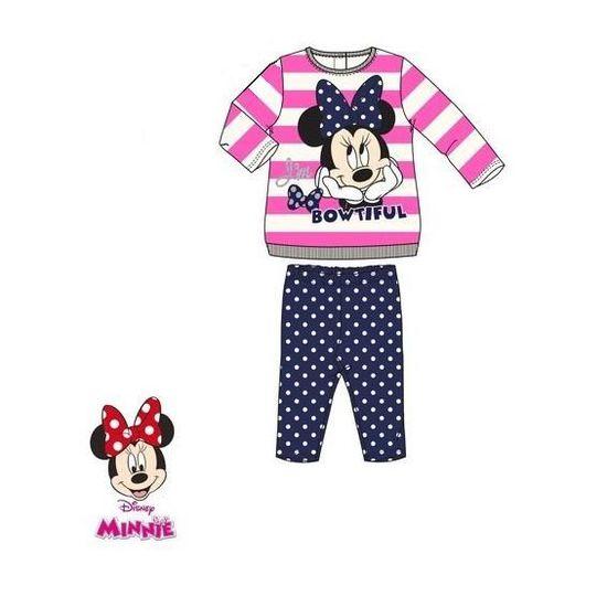 NEUF Disney Minnie Mouse pour bébé à manches longues Tops-Pack de deux 100/% coton