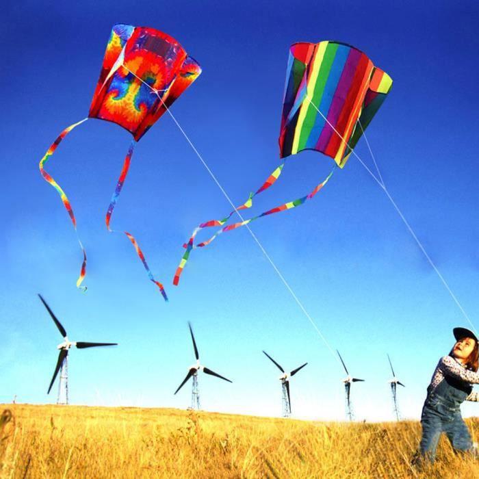 【cerf-volant】Nouveau Power Kite Qutdoor Fun Toys Parafoil Parachute Dual Line Surfing Toys MR_gt15341