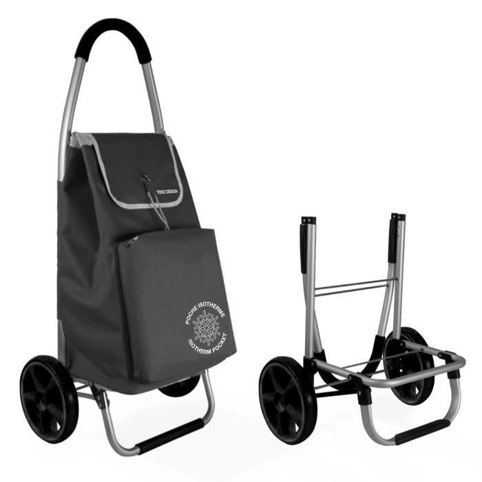 chariot de course Chariot de marche pliable Yoko Design - Noir
