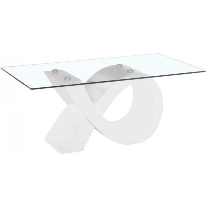 Table Basse Moderne et Design INFINITY Laqué Blanc