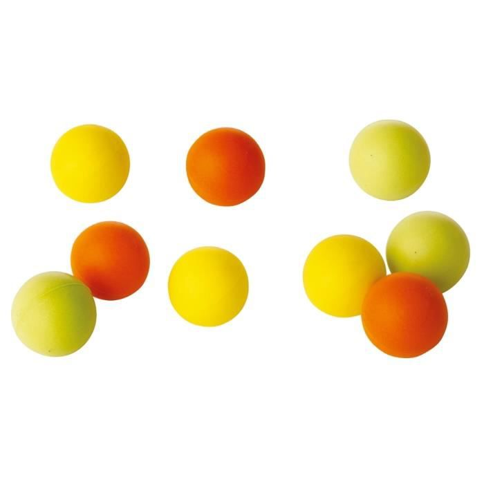 Lot de 10 balles de tennis de table en mousse Tremblay - jaune - TU
