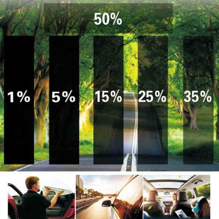 75X700cm voiture fenêtre teinte Film Auto voiture fenêtre Film solaire Protection UV pour verre Protecti - Modèle: A1 -