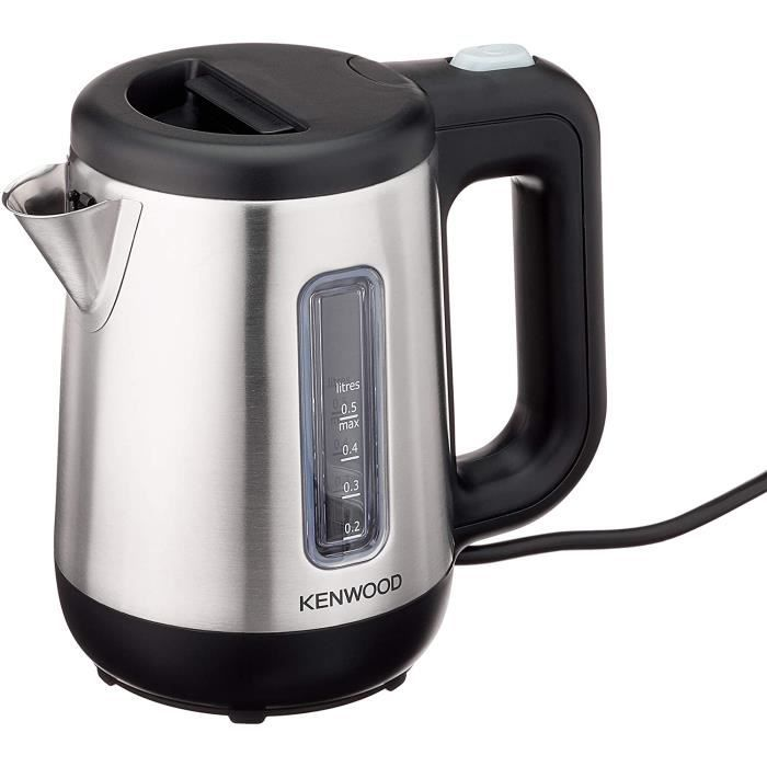 Kenwood -Mini bouilloire (670-800 watts / 0,5 litre / acier inoxydable),argent