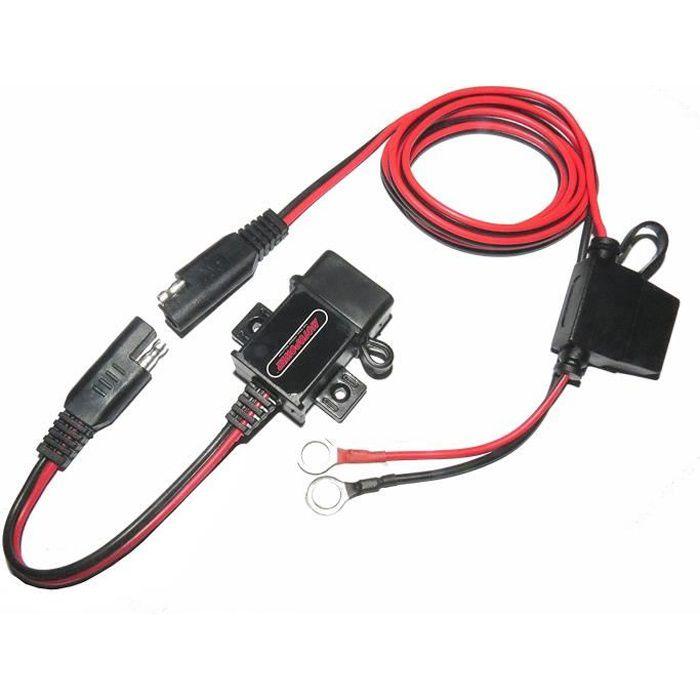 MOTOPOWER MP0609A 3.1Amp imperméable Moto USB Chargeur Kit SAE à l'adaptateur USB