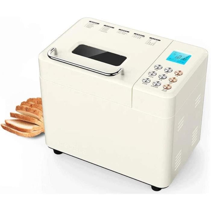 Machine à pain, fruits de noix Distributeur, Antiadhésif céramique Maker Pan automatique Maker Wifi pain intelligent de pâte à pain