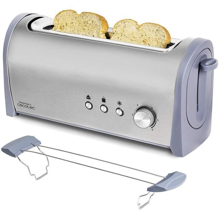 Grille-pain en Acier Steel&Toast 1 L. 6 Niveaux de Puissance, Pour 2 Toasts, 3 Fonctions: Faire griller