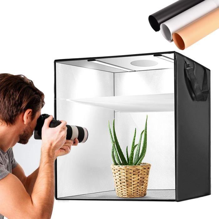 Boîte à lumière portable de studio photo de studio de photo de tente pliable de 50cm