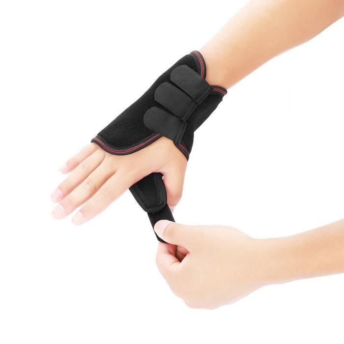 EBTOOLS appui de main Attelle de poignet respirante réglable Support de main Fracture Ligament Blessure du bras Protection droite