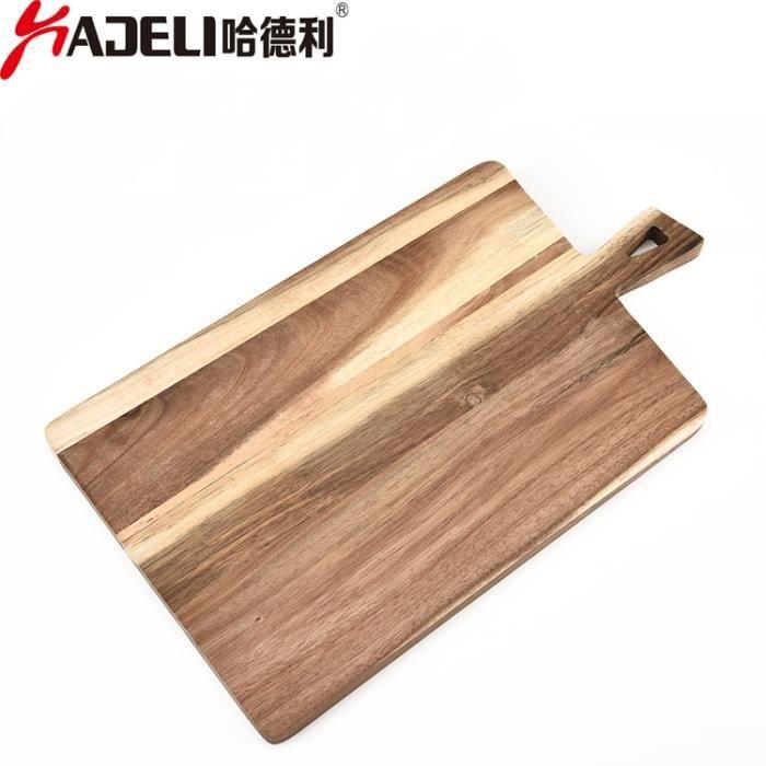 Planche à découper,HADELI planche à découper en bois d'acacia, grande planche à découper en bois, assiette à pain Divine, Gadgets