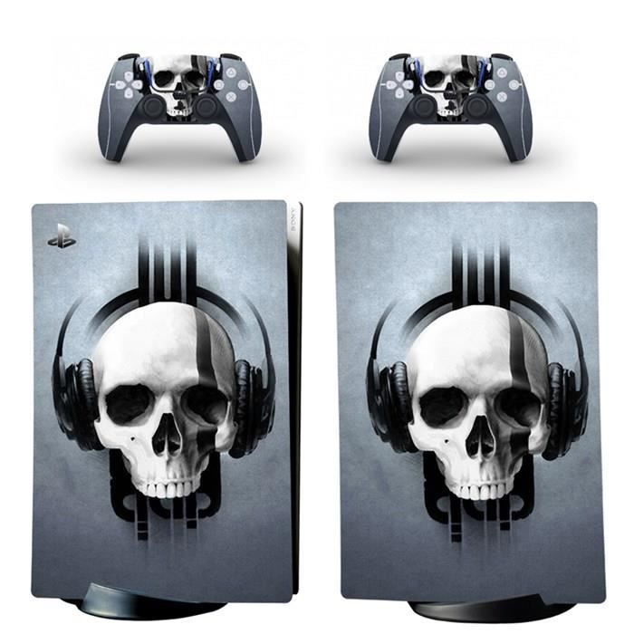 Casque Crâne,PS5 sticker Protection peau Dissipation thermique étanche Playstation 5 Digital Edition skin