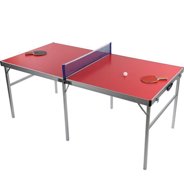 Les tables portatives extérieures de ping-pong de tennis de table ont placé l'accessoire de costumes de jeu d'équipement rouge-LAT