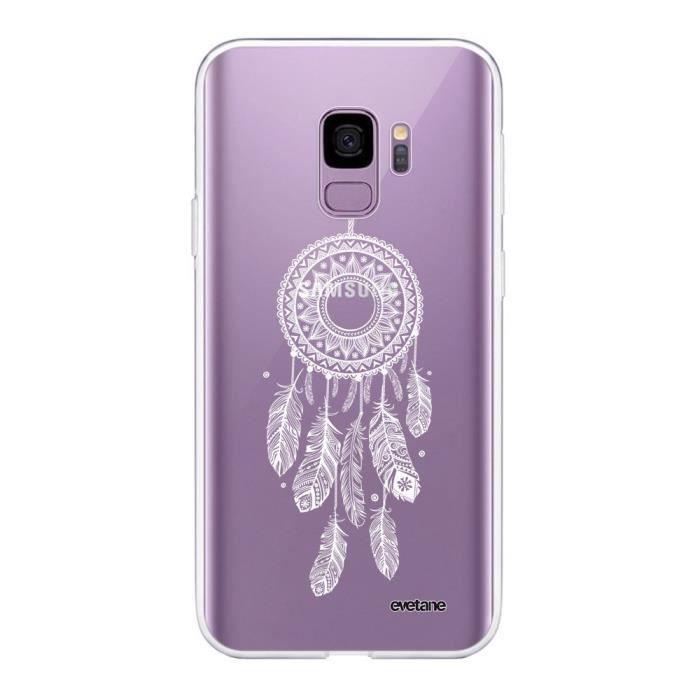Coque Samsung Galaxy S9 360 intégrale transparente Attrape reve blanc Ecriture Tendance Design Evetane