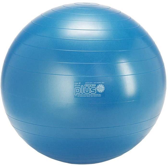 GYMNIC Plus Ballon de gymnastique ø 65 cm, bleu