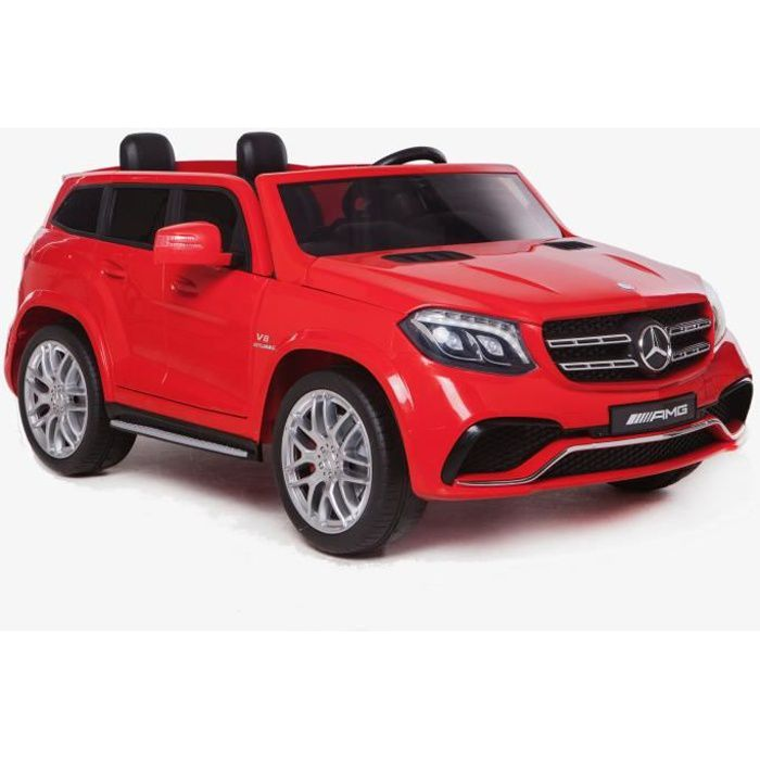 Voiture Electrique Enfant 2 places - Mercedes Benz GL63 AMG 12V - Rouge