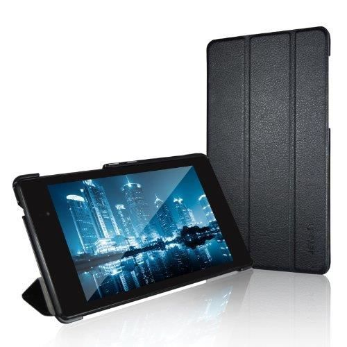 JETech J0530 Coque pour Nexus 7 2013 Etui, Housse Rabat à Fonction Réveil-Sommeil Automatique, Noir