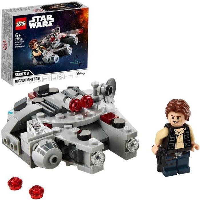 LEGO® Star Wars™75295 Microfighter Faucon Millenium Jeu de construction avec figurine Han Solo pour garçon et fille de 6 ans